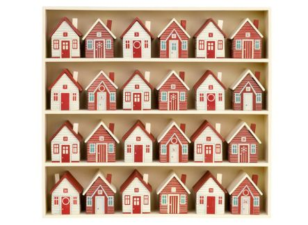 A bunch of little houses